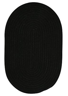 August Grove Navarrette Black Area Rug; Oval 10' x 13'