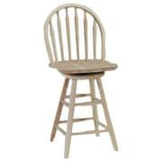 August Grove Imogene 24'' Swivel Bar Stool; Unfinished