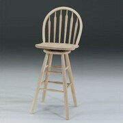 August Grove Imogene 30'' Swivel Bar Stool; Unfinished