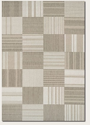 August Grove Marche Beige/Ivory Indoor/Outdoor Area Rug; 7'10'' x 10'9''