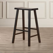 August Grove Imogene 29'' Bar Stool; Distressed Black