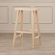 August Grove Imogene 29'' Bar Stool; Unfinished