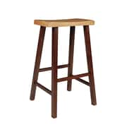 August Grove Imogene 29'' Bar Stool; Cinnamon / Espresso