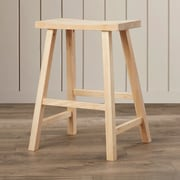 August Grove Imogene 24'' Bar Stool; Unfinished