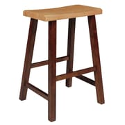 August Grove Imogene 24'' Bar Stool; Cinnamon / Espresso