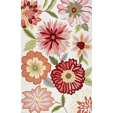 August Grove Culloden Pastels Red/Pink Area Rug; 6' x 9'