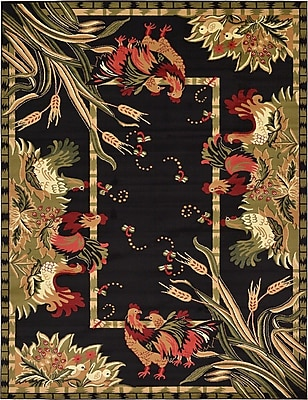 August Grove Andersonville Black Area Rug; 9' x 12'