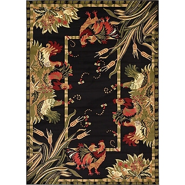 August Grove Andersonville Black Area Rug; 7' x 10'