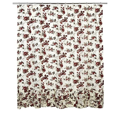 August Grove Thea Cotton Ruffled Shower Curtain