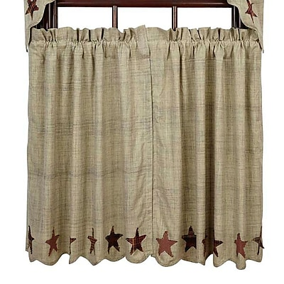 August Grove Lydia Tier Curtain (Set of 2); 36'' H x 36'' W