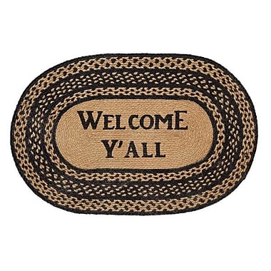 August Grove Saco Welcome Y'all Area Rug; 1'8'' x 2'6''