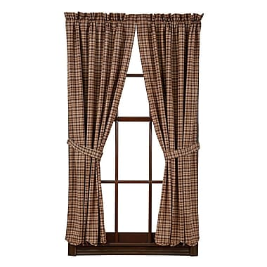 August Grove Isabell Scalloped Lined Curtain Panels (Set of 2)