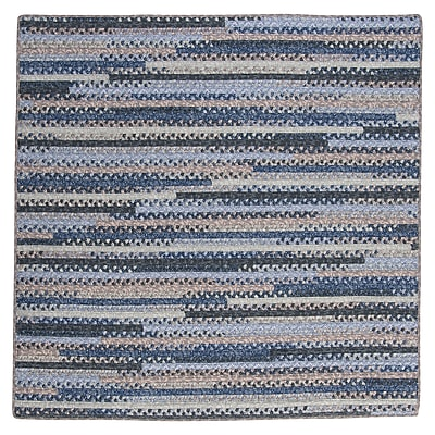 August Grove Byron Blue Area Rug; Square 10'
