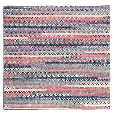 August Grove Byron Blue Area Rug; Square 12'
