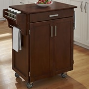 August Grove Savorey Kitchen Cart; Cherry