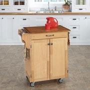 August Grove Savorey Kitchen Cart; Natural