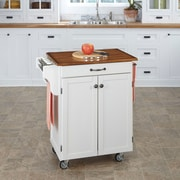 August Grove Savorey Kitchen Cart; White
