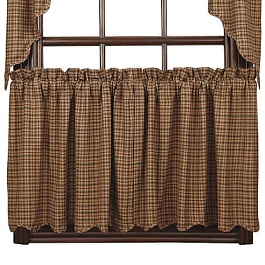 August Grove Lorena Scalloped 36'' Tier Curtain (Set of 2); 24'' L x 36'' W