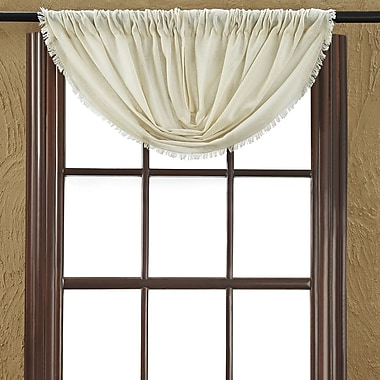 August Grove Francoise Cloth Natural Balloon Fringed Curtain Valance