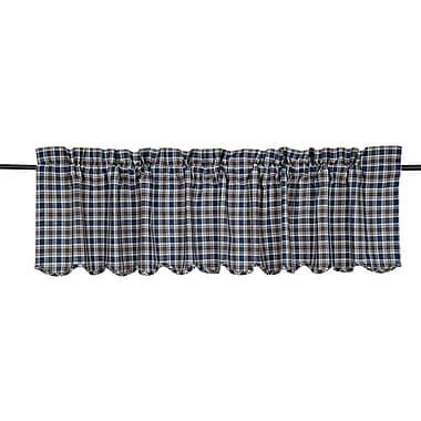 August Grove Victoriaville Scalloped Curtain Valance