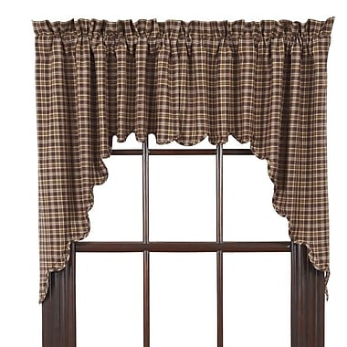 August Grove Isabell Scalloped Lined Curtain Valance (Set of 2)