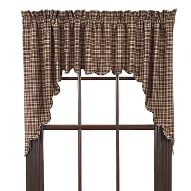 August Grove Isabell Scalloped Lined Swag Curtain Valance (Set of 2)