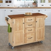 August Grove Adelle-a-Cart Kitchen Island; Natural