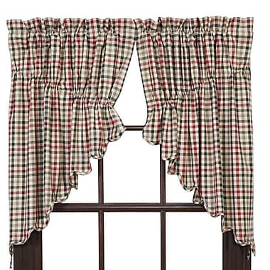 August Grove Chevery Scalloped Lined Prairie Curtain Valance (Set of 2)
