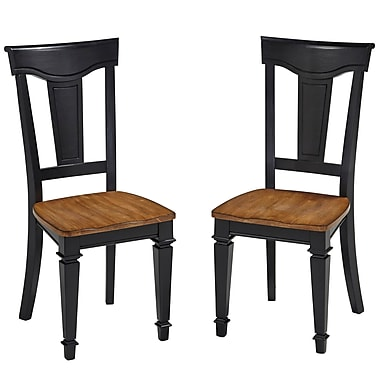 August Grove Collette Side Chair (Set of 2); Black