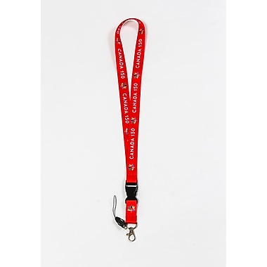 Canada 150 Celebration Lanyard, Red, 12/Pack