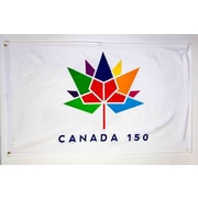 Canada 150 Celebration Flag, 24x36, 2/Pack