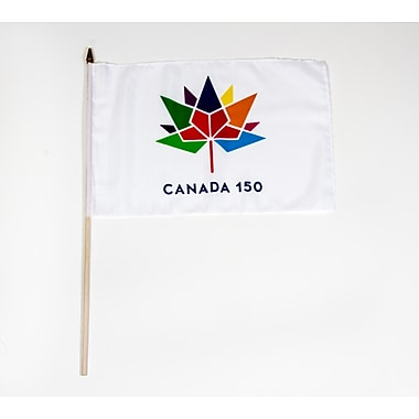 Canada 150 Celebration Flag, 4x6, 8/Pack