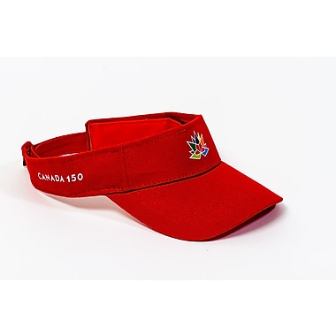 Canada 150 Celebration Visor, Red, 3/Pack
