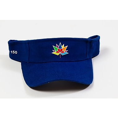 Canada 150 Celebration Visor, Royal Blue, 6/Pack