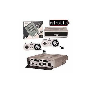 Retro-Bit – Système SGS/NES/SNES, argenté/noir