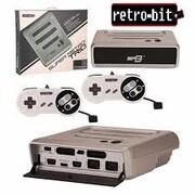 Retro-bit system SS/NES/SNS, Silver/Black