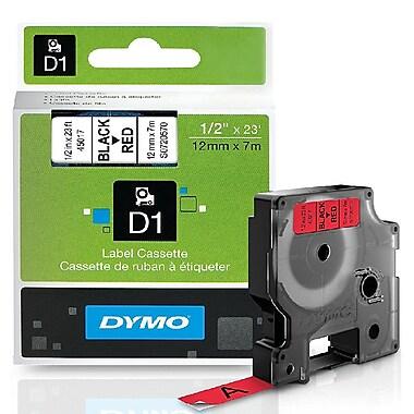 DYMO – Étiquettes standards D1, 1/2 po, 45017