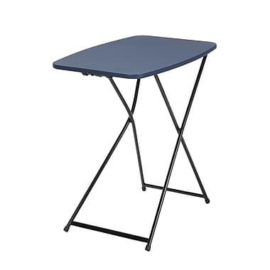 COSCO Indoor Outdoor Adjustable Height Personal Folding Table, Dark Blue, 2/Pack