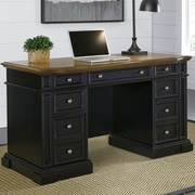 August Grove Collette Pedestal Computer Desk; Black