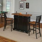 August Grove Collette Home Bar Set; Black