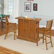 August Grove Collette Home Bar Set; Brown by