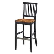 August Grove Collette 29'' Bar Stool; Black