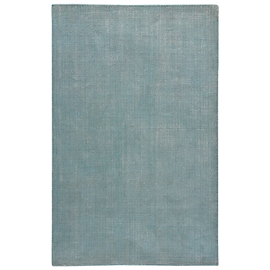 August Grove Nan Hand-Loomed Dusty Turquoise/Chateau Gray Area Rug; 8' x 11'