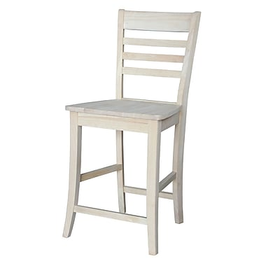 August Grove Laurier 24'' Bar Stool; Unfinished