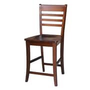 August Grove Laurier 24'' Bar Stool; Espresso