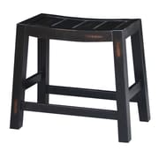 August Grove Laurier 18.1'' Bar Stool; Aged Black
