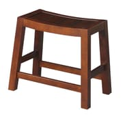 August Grove Laurier 18.1'' Bar Stool; Espresso