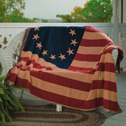 August Grove Walcott Old Glory Woven Cotton Throw
