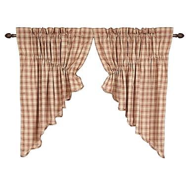August Grove Sky Valley Scalloped Prairie Swag Curtain Valance