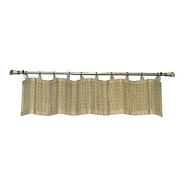 Bay Isle Home Pelico Bamboo Rayon Ring Top 48'' Curtain Valance